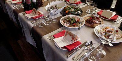 Luxury catering at restaurant wedding reception